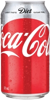 COCA-COLA DIET COKE CANNED DRINKS 375ML - PACK OF 24