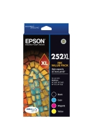 EPSON 252XL HIGH YIELD INK CARTRIDGES VALUE PACK - PACK OF 4