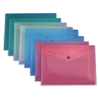 CUMBERLAND DOCUMENT WALLET PVC A4 ASSORTED - PACK OF 10
