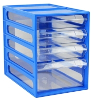 ITALPLAST OFFICE ORGANISER CABINET 4 DRAWER BLUEBERRY - EACH