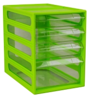 ITALPLAST OFFICE ORGANISER CABINET 4 DRAWER LIME - EACH