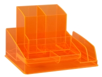 ITALPLAST NEON DESK ORGANISER ORANGE - EACH