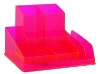 ITALPLAST NEON DESK ORGANISER RED - EACH