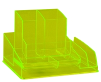 ITALPLAST NEON DESK ORGANISER YELLOW - EACH