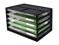 GREENR RECYCLED 5 DRAWER DOCUMENT CABINET BLACK - EACH