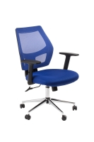 ACE METRO MESH SEAT AND BACK CHAIR BLUE - EACH