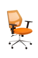 ACE METRO MESH SEAT AND BACK CHAIR ORANGE - EACH