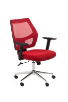 ACE METRO MESH SEAT AND BACK CHAIR RED - EACH