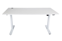 ACE LIZ SIT STAND ELECTRIC HEIGHT ADJUSTABLE DESK 1800L X 800D WHITE - EACH