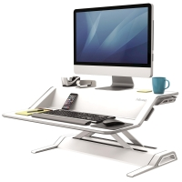 FELLOWES LOTUS SIT STAND WORKSTATION WHITE - EACH