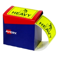 AVERY HEAVY LABELS, 75X99.6MM, FLUORO YELLOW, 750 LABELS