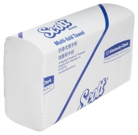 13207 Scott® Multifold Hand Towels, White, 250 towels/pack - Box of 16