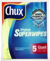 CHUX SUPERWIPE CLEANING CLOTHS 60X60CM 5 SHEETS - PACK