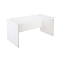 RAPID VIBE OPEN DESK 1500W x 750D x 730H WHITE - EACH