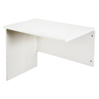 RAPID VIBE OPEN DESK RETURN 900W x 600D x 730H WHITE - EACH