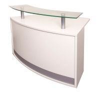 RAPIDLINE MODULAR RECEPTION UNIT WITH GLASS TOP 1339WX872DX935H WHITE - EACH