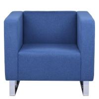 RAPIDLINE ENTERPRISE SINGLE SEAT LOUNGE CHAIR IN BLUE FABRIC - EACH