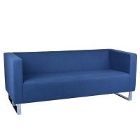 RAPIDLINE ENTERPRISE TRIPLE SEAT LOUNGE CHAIR IN BLUE FABRIC - EACH