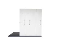 RAPIDLINE MOBILE STORAGE 4 BAY 2670L X 1280W X 2150H WHITE - EACH