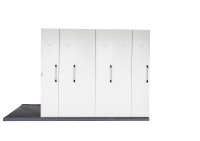 RAPIDLINE MOBILE STORAGE 6 BAY 3560L X 1280W X 2150H WHITE - EACH