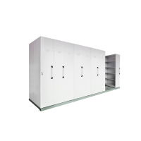 RAPIDLINE MOBILE STORAGE 8 BAY 4450L X 980W X 2150H WHITE - EACH
