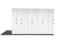 RAPIDLINE MOBILE STORAGE 8 BAY 4450L X 1280W X 2150H WHITE - EACH