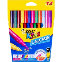 BIC CASCADE FELT MARKERS ASSORTED PACK OF 12