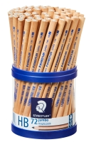STAEDTLER NATURAL JUMBO HB PENCILS - CUP OF 72
