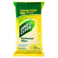 PINE O CLEEN DISINFECTANT LEMON WIPES - PACK OF 45