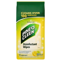 PINE O CLEEN DISINFECTANT LEMON WIPES - PACK OF 90