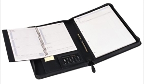 COLLINS COMPENDIUM WITH WEEK-TO-VIEW DIARY A5 BLACK - EACH