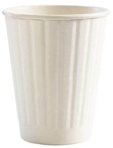 DOUBLE WALL PE CUP 8OZ WHITE - BOX OF 1000