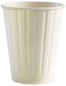 DOUBLE WALL PE CUP 12OZ WHITE - BOX OF 600