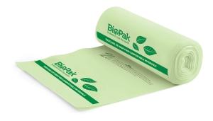 BIOPAK BIOPLASTIC BIN LINERS 30L - PACK OF 25