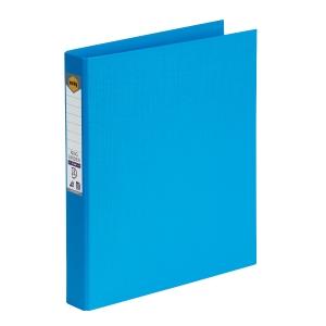 MARBIG LINEN BINDR A4 2D RING 25MM SKY BLUE - EACH