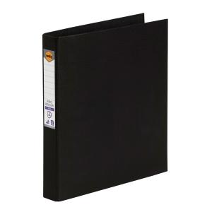 MARBIG LINEN BINDR A4 2D RING 25MM BLACK - EACH