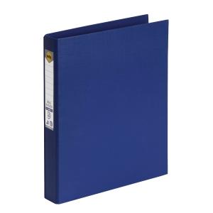 MARBIG LINEN BINDR A4 2D RING 25MM BLUE - EACH