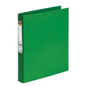 MARBIG LINEN BINDR A4 2D RING 25MM GREEN - EACH