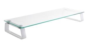 BRATECK UNIVERSAL TEMPER GLASS TABLETOP MONITOR RISER - EACH