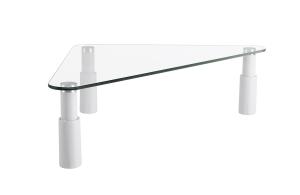 BRATECK UNIVERSAL TEMPER GLASS CORNER TABLETOP MONITOR RISER - EACH