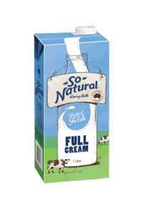 SO NATURAL LONG LIFE FULL MILK 1L - EACH