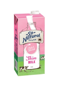 SO NATURAL LONG LIFE SKIM MILK 1L - EACH