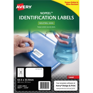 AVERY L6146 NO PEEL LABEL 63.5X33.9MM WHITE - PACK OF 10