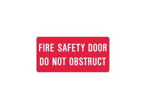 FIRE SAFETY DOOR SIGN 300 X 225MM - EACH