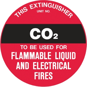 FIRE EXTINGUISHER CO2 DISC SIGN 200MM - EACH