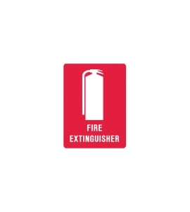 FIRE EXTINGUISHER SIGN SMALL 225 X 300MM - EACH