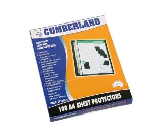 CUMBERLAND HEAVY DUTY A4 SHEET PROTECTORS PORTRAIT - BOX OF 100