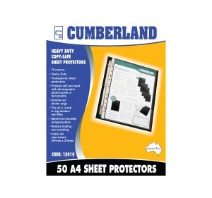 CUMBERLAND HEAVY DUTY A4 SHEET PROTECTORS PORTRAIT - BOX OF 50