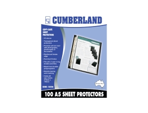 CUMBERLAND A5 ECONOMY SHEET PROTECTOR - BOX OF 100