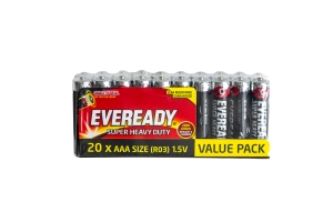 EVEREADY BATTERY S/HEAVY DUTY AAA - PACK OF 20